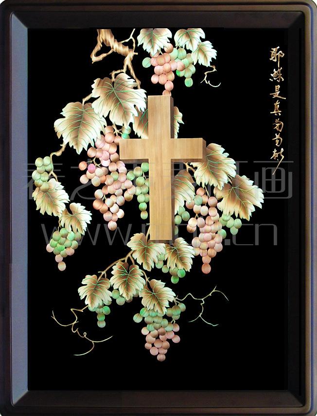 装饰画麦秆画耶稣